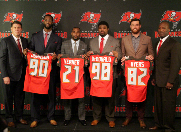 Bucs 2014 Free Agent Introductory Press Conference - Sports Talk Florida - N 824d4c9157f