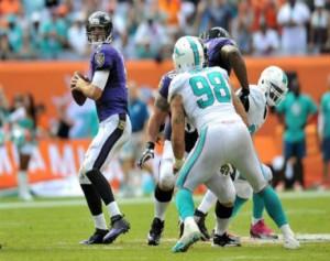 Joe Flacco and the Ravens got a big win in Miami last week