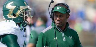 USF football head coach Willie Taggart