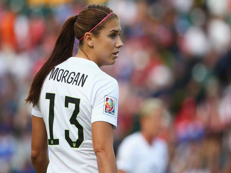 premium selection 2acb6 b9274 Alex Morgan of the Orlando Pride is headed to play soccer in ...