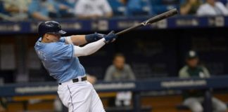 Rays Willy Adames Launches Homer Against Athletics