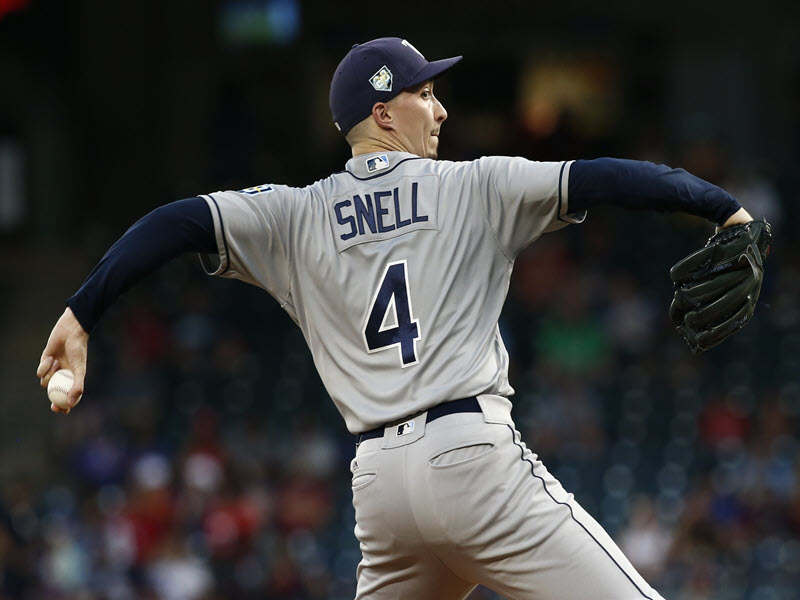 Rays Snell Wins 20th Game
