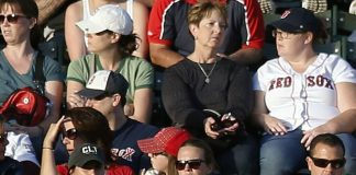 Red Sox Fans Wait For Yankees