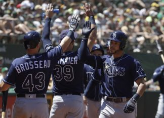 Rays Defeat Athletics Series Split