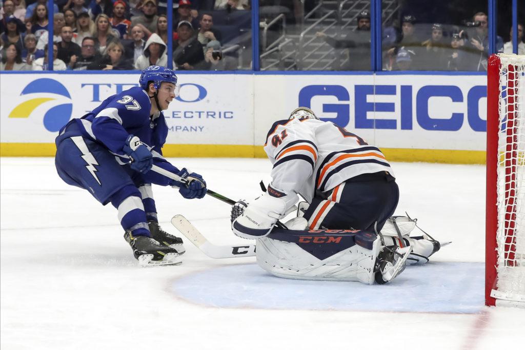 Oilers' Zack Kassian suspended 7 games for kicking Lightning's Cernak
